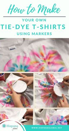 Have you always wanted to make your own tie-dye t-shirts using markers, but didn't know how? This step by step guide will help you learn what markers you need, what materials to buy, if Sharpies really work, and if you need to add alcohol for the ink to run. #tiedye #familycraft #DIY #tiedyeshirt #crafty