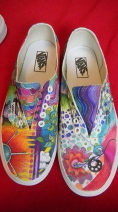 WhitzKicks custom painted shoes. email me @ whitney@whitzkicks.com