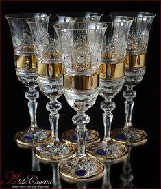 «Aleks-Crystal.com» - Bohemia crystal Champagne glasses! Bohemia Crystal, Bohemia Glass, Crystal Champagne, Champagne Glasses, Crystal Glassware, Shabby, Glass Art, Antiques, Dishes
