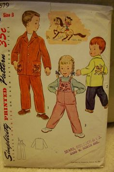 Simplicity 3679: from 1951. not sure which item is the cutest!!