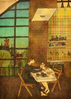 """ศิลปินเกาหลี """"Puuung"""" สร้างผลงานสุดประทับใจจากสิ่งที่เรียกว่า """"ความรัก"""""""