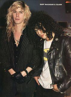 Duff McKagan and Slash Mais