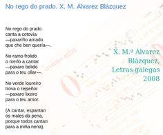 No rego do prado. X. M. Álvarez Blázquez : son de poetas