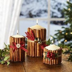 Cinnamon candles are a cute decoration