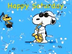 Saturday Greetings, Morning Greetings Quotes, Happy Saturday, Snoopy Song, Snoopy Happy Dance, Good Morning Music, Good Morning Quotes, Thanksgiving Videos, Peanuts Thanksgiving