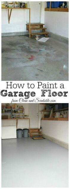 How To Epoxy A Garage Floor. That Makes A Huge Difference | Garage |  Pinterest | Epoxy, House And Garage Organization