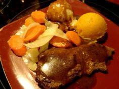 Pan Seared Moose Steak recipe - from the Nannie North's Cookbook Family Cookbook Moose Steak Recipe, Moose Recipes, Steak Recipes, Pot Roast, Fries, Beef, Ethnic Recipes, Food, Minute Steak Recipes