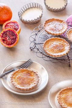 Blood Orange Brulee Tarts | http://www.deliciouseveryday.com/blood-orange-brulee-tarts/