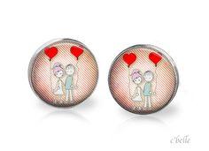 Ohrstecker Liebe - love is in the air 7 von c'belle auf DaWanda.com