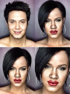 Pin for Later: He Did It Again! A Man Transforms Into Caitlyn Jenner With Makeup Rihanna Source: Instagram user pochoy_29