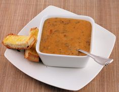 Bacon Cheeseburger Soup - leave out the bread for a low-carb recipe.