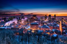 Before Sunrise by Michael Vesia on Seattle Skyline, New York Skyline, Old Montreal, Mont Real, Flight And Hotel, Before Sunrise, How Beautiful, British Columbia, Marina Bay Sands