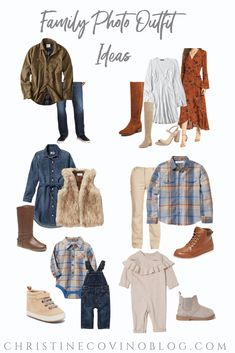 Family Photo Outfit Ideas #familyphotos #familypictures #clothing #outfitideas #holidayphotos