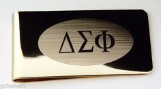 Delta Sigma Phi Brass Greek Letter Money Clip