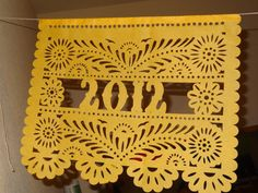 Papel Picado Personalized Banner for your Fiesta with name or wording - Birthday Graduation Baby or Bridal Shower Wedding cinco de mayo. $30.00, via Etsy.