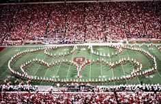 Ohio State marching band.  Wish my school was this cool...