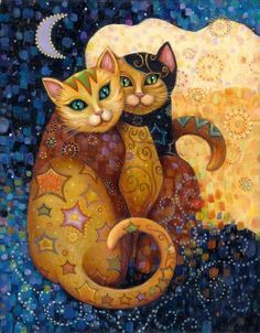 New Arrival - DIY Diamond Painting - Contemporary Kitty. 6 Designs to choose from. A Beautiful Diamond Embroidery Cross Stitch Rhinestone Mosaic Painting for your home decor or gift.New Diamond Painting Kits arriving Satisfaction G. Art And Illustration, Illustrations, Subject Of Art, Image Chat, Chicago Art, Cat Colors, Art Moderne, Artist Gallery, Cat Drawing