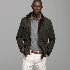 British Millerain waxed cotton field jacket