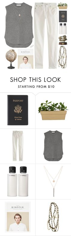 """New geography teacher"" by pantelle ❤ liked on Polyvore featuring Royce Leather, J.Crew, Alexander Wang, MAC Cosmetics, Ali Moosally and Ben-Amun"