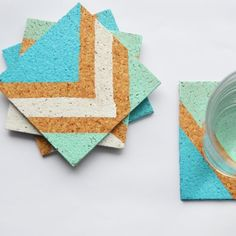 Create your own cork coasters with this simple DIY tutorial.