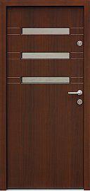 Drzwi zewnętrzne nowoczesne model 468,11 w kolorze orzech