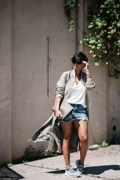 W/skirt longer Chic Outfits, Fall Outfits, Summer Outfits, Fashion Outfits, Womens Fashion, Fashion Trends, Look Fashion, Winter Fashion, Look Plus