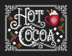 Xmas Cross Stitch, Counted Cross Stitch Patterns, Cross Stitch Designs, Cross Stitching, Christmas Ornament Crafts, Christmas Cross, Christmas Greetings, White Christmas, Sewing Stitches
