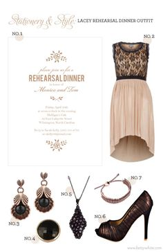Stationery & Style: Lacey Rehearsal Dinner Outfit // Flights of Fancy (click for product info)