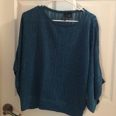 New directions blouse large dome shirt Blouse large blue sparkling dome shirt like new New directions Tops Blouses