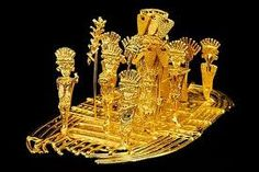 The Golden Raft of the Muisca Tribe