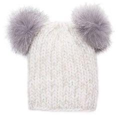 c4c9033759a Eugenia Kim Mimi Knit Beanie Hat w Fur Pom-Poms