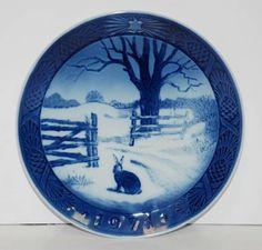 "1971 ROYAL COPENHAGEN Denmark ""HARE IN WINTER"" #Christmas #Collector #Plate Mint"