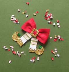 Your place to buy and sell all things handmade Holiday Hair Bows Christmas Elf Hair Bow Clip by giddyupandgrow Christmas Hair Bows, Christmas Elf, Christmas Crafts, Bow Hair Clips, Bow Clip, Elf Hair, Baby Hair Bows, Boutique Hair Bows, Making Hair Bows