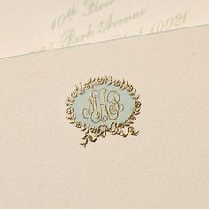 Beautiful monogram shown on Ritzy Bee's website.