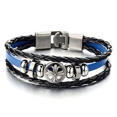 Mens Cross Black Blue Braided Leather Bracelet Multi-stra... https://www.amazon.com/dp/B00WHMRZ1G/ref=cm_sw_r_pi_dp_88mHxbW9YQYRG