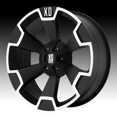 xd wheels | KMC XD Series XD803 Thump Matte Black Machined Custom Wheels Rims