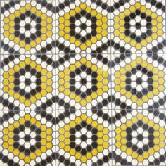 Amelie   Sabine Hill Brasserie Collection hexagon mosaic tile floor pattern