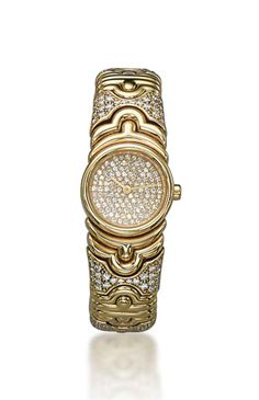 A lady's diamond 'parentesi' wristwatch, by Bulgari
