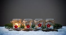 Adventní věnec ze skleniček – COOP Club Advent Candles, Shot Glass, Wine Glass, Diy And Crafts, Candle Holders, Table Decorations, Tableware, Christmas, Gifts