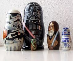 Star Wars stacking dolls. I am deeply in love with these.