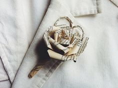 Boutonnieres for bookworms. #etsy #etsyweddings