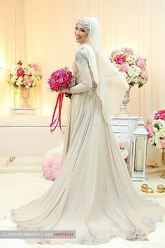 Masha Allah, beautiful wedding dress