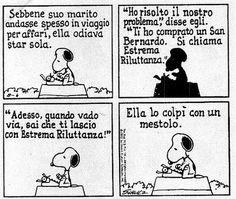 [I compagni di viaggio sono più importanti di qualsiasi destinazione] La vignetta di Snoopy mi guarda ogni giorno dal mio desktop. Mi fa molto ridere. E in più mi ricorda che, nonostante nella vita io abbia sempre messo davanti a tutto i miei programmi e le mie priorità, a volte la cosa più bella è rallentare il passo per farsi raggiungere.