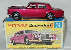 MATCHBOX LESNEY SUPERFAST No 24 ROLLS ROYCE SILVER SHADOW - MINT IN G BOX - http://www.matchbox-lesney.com/20952