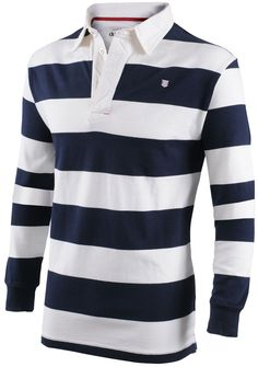 Dubarry Men's Ennell Men's striped Long sleeved rugby top. These are made from 100% cottong jersey with a canvas collar and rib cuffs with lycra.