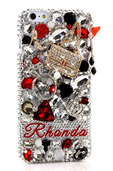 Treasures Personalized Name & Initials Unique Design iPhone 6s Plus handmade case protective for girls.