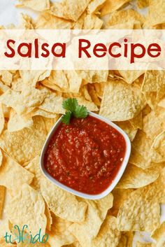 Homemade Salsa Recipe and the Taste Creations Blog Hop