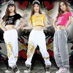 Aliexpress.com : Buy Hiphop  hip hop pants Jazz Kungfu trousers female DS costumes lead singer clothing from Reliable Hip hop clothing suppliers on hooters girl $23.00