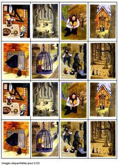 Hansel et Gretel en images séquentielles en couleurs                                                                                                                                                                                 Plus
