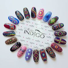 Nail Art for Indian Bride A Trendy unapologetic Bridal S.- Nail Art for Indian Bride A Trendy unapologetic Bridal Statement of - Diy Nails, Cute Nails, Pretty Nails, Diy Manicure, Dot Nail Designs, Mandala Nails, Dot Nail Art, Easy Nail Art, Nail Arts